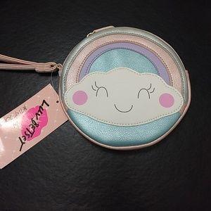 Betsey Johnson pastel rainbow coin purse